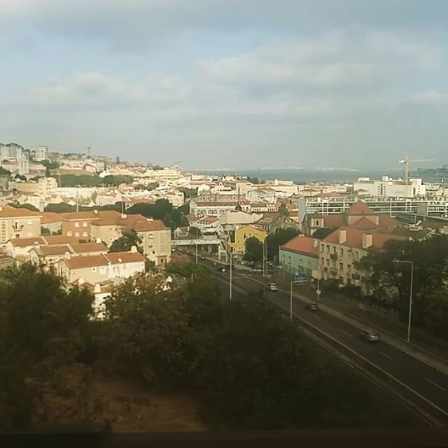 Crossing the Bridge of April 25th via train #Portugal #Lisbon