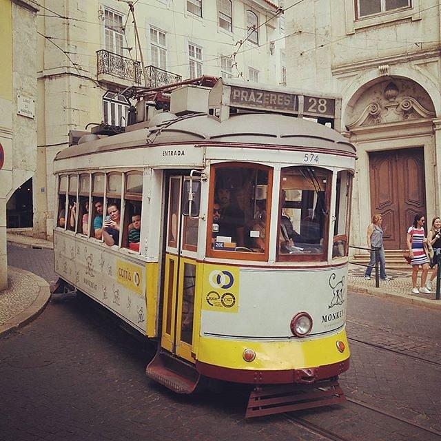 Nostalgic tram rides #Lisbon #Portugal