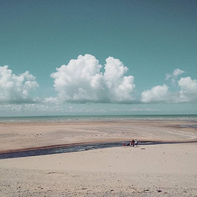 It was a great trip to the #seaside. #france #summer #normandie #beach